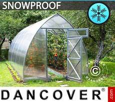 Greenhouse Polycarbonate, Arrow 20.8 m², 2.6x8 m, Silver