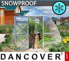 Greenhouse Polycarbonate, Arrow 6 m², 3x2 m, Silver