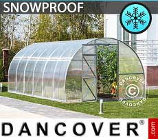 Greenhouse Polycarbonate, Strong 18 m², 3x6 m, Silver