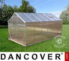Greenhouse polycarbonate SANUS L-10, 9.46 m², 2.2x4.3x2.15 m, Silver