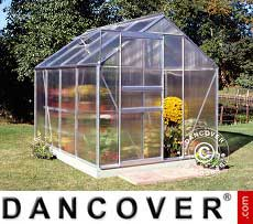 Greenhouse Polycarbonate Halls Popular 5 m², 1.93x2.57x1.95 m, Aluminium
