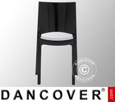 Stuhl, Sunshine, Schwarz glänzend, 6 Stück
