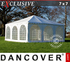 Pagodenzelt Exclusive 7x7 m PVC, Weiß