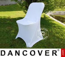Stretch Stuhlüberzug, 44x44x80cm, Weiß (1 stck.)