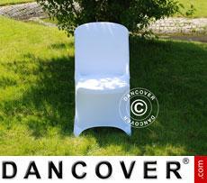 Stretch Stuhlüberzug, 48x43x89cm, Weiß (10 stck.)