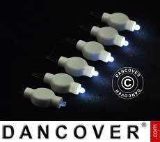 LED-Licht für Papierlaterne, 20 Stück, weiß