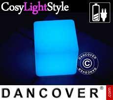 LED-Beleuchtung würfelförmig, 20x20cm, Mehrfachfunktion, mehrfarbig