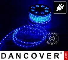 Lichtschlauch, 25m LED, Ø 1,2cm, Mehrfachfunktion, Blau