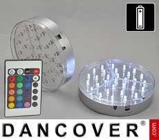 LED-Leuchtsockel (2 Stück), Durchmesser 15 cm, mehrfarbig