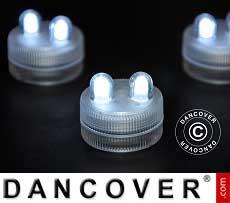 LED Floralyte-Lichter (20 Stück) Ø 3cm, weiß