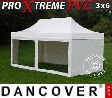 Faltzelt FleXtents Xtreme Heavy Duty 3x6m Weiß, mit 6 Wänden