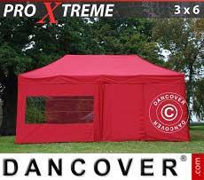 Faltzelt FleXtents Xtreme 3x6m Rot, mit 6 wänden