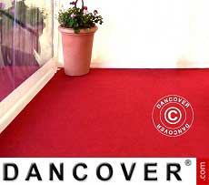 Teppich 2,5x16m Rot