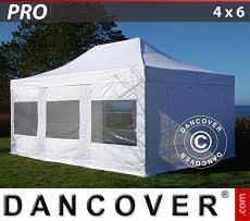 Partyzelt PRO 4x6m Weiß, mit 8 wänden