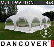 Partyzelt Multipavillon 6x9m, Weiß