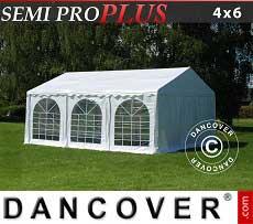 Partyzelt PRO Plus 4x6m PVC, Weiß