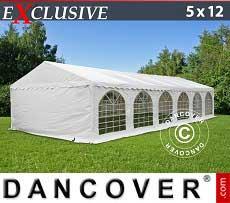Partyzelt Exclusive 5x12m PVC, Weiß