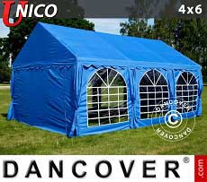Partyzelt UNICO 4x6m, Blau