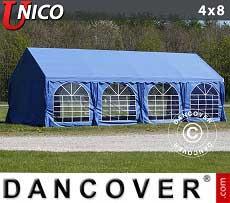 Partyzelt UNICO 4x8m, Blau