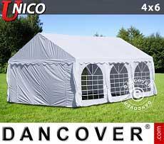 Partyzelt UNICO 4x6m, Weiß