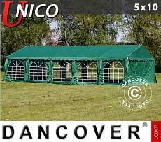 Partyzelt UNICO 5x10m, Dunkelgrün