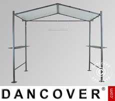 Pavillon, Milano Grill, 2,65x1,59m, Dunkelgrau