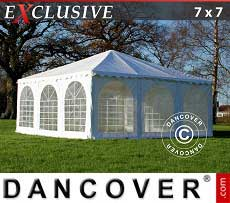 Pagodenzelt Exclusive 7x7m PVC, Weiß