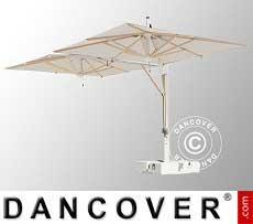Freiarm-Sonnenschirm Milano Doublet, 3x6m, Ekrü