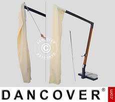Sonnenschirm-Tuch mit Reißverschluss für Alu Double 3x6m, Ekrü
