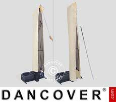 Sonnenschirm-Tuch mit Reißverschluss für Galileo Dark 3,5x3,5m, Ekrü