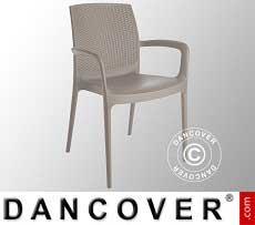 Stuhl mit Armlehnen, Boheme, Jute, 6 Stück