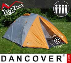 Campingzelt, TentZing® Xplorer, 4 Personen, Orange/Grau