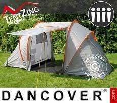 Campingzelt, TentZing® Xplorer für die Familie, 4 Personen, Orange/Grau