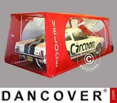 Carcoon Veloce 6,38 x 2,3m Durchsichtig/Rot, Innenbereich