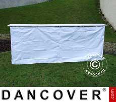 Seitenverkleidung für die FleXtents PRO Falttisch, 3m, Weiß