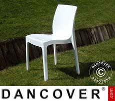 Stuhl, Ice, Weiß glänzend, 18 Stück