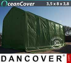Bootszelt Oceancover 3,5x8x3x3,8m. Grün