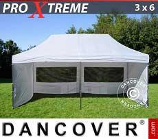 Faltzelt FleXtents Xtreme 3x6m Weiß, mit 6 wänden