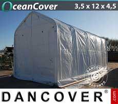 Bootszelt Oceancover 3,5x12x3,5x4,5m, Weiß