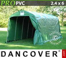 Lagerzelt PRO 2,4x6x2,34m PVC, Grün