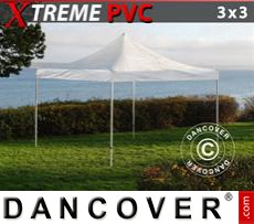Folding tent FleXtents Xtreme 3x3m Transparent