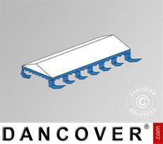 Dachplane für das Partyzelt Exclusive 6x12m PVC, Weiß / Blau