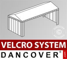 Dachplane mit Klettverschluss für Plus-Partyzelt 4x10m, Weiß / Grau