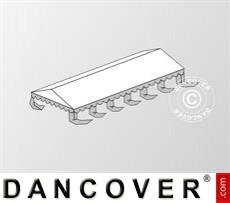 Dachplane für das Partyzelt Exclusive 6x12m PVC, Weiß / Grau