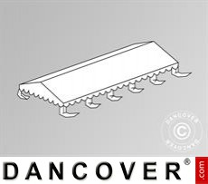 Dachplane für das Partyzelt Exclusive 6x10m PVC, Weiß