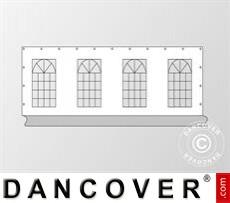 Seitenwand mit Fenster für Partyzelt PLUS 8m, Weiß / Grau