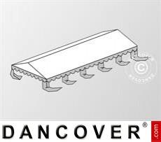 Dachplane für das Partyzelt Original 5x10m PVC, Weiß / Grau