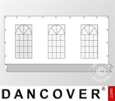 Seitenwand mit Fenster für Partyzelt PLUS 6m, Weiß / Grau