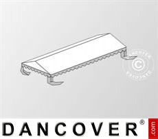 Dachplane für das Partyzelt Plus 5x10m PE, Weiß / Grau