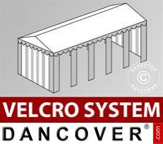 Dachplane mit Klettverschluss für Original-Partyzelt 4x10m, Weiß / Grau